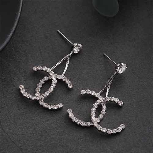 Earrings/925银针双C耳钉