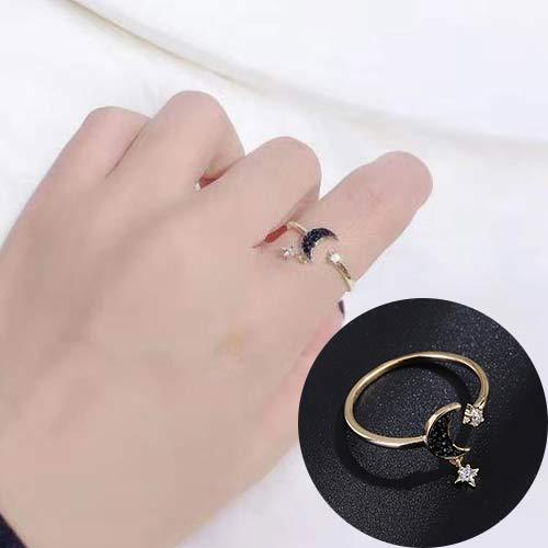 Ring/精致星月戒指