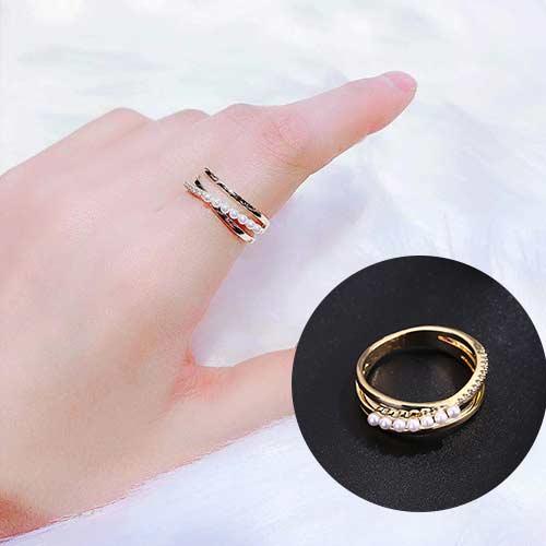 Ring/双层珍珠戒指