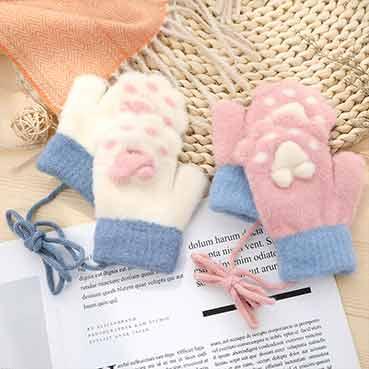 猫爪儿童包指手套