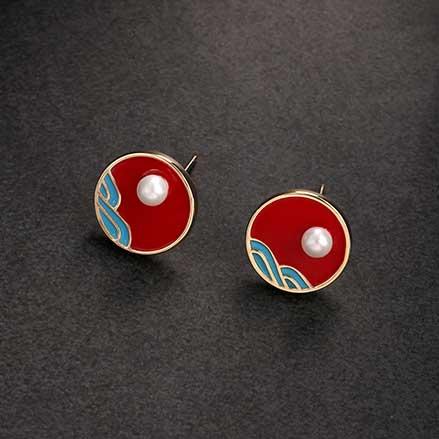 Earrings/925银针国风耳钉